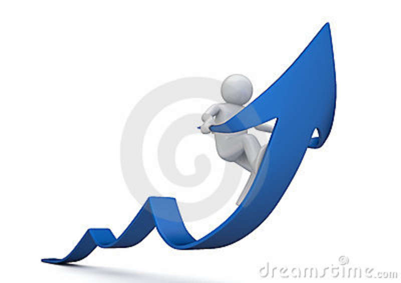 freccia-blu-di-guida-di-successo-13395943